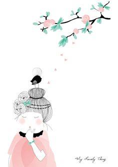 """Illustration """"Rose d'été"""" de My Lovely Thing"""