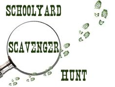 #lessonplans on how one school created a schoolyard nature scavenger hunt.  #classroom #kidsactivities