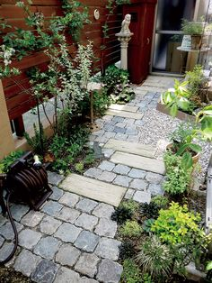 backyard design – Gardening Tips Garden Bar Shed, Garden Stairs, Brick Garden, Garden Floor, Garden Paving, Garden Cottage, Garden Paths, Garden Boxes, Back Garden Design