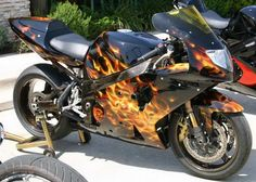 Custom Paint Sportsbike Motorcycle