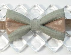 mint light gray beige pretied bow tie bicast leather mixed costume cloth designed bowtie beige butterfly