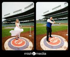 On Deck Weddings At Wrigley Field Jeremy And Gwynne Chicago