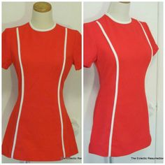 Vintage 1960s Wiggle Dress Bright Red  New Look Mod by linbot1, $34.00