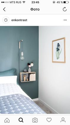 ✔ 50 Perfect Bedroom Paint Color Ideas for Your Next Project [Images] Minimalist Home Interior, Minimalist Bedroom, Minimalist Decor, Grey Bedroom Design, Bedroom Paint Colors, Home Bedroom, Bedroom Wall, Decor Room, Bedroom Decor