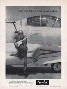 1957 FENDER GUITAR Music Advertisement STATOCASTER by phorgotten