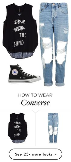 """Converse"" by mahira-muminovic on Polyvore featuring Melissa McCarthy Seven7, Topshop, Converse and plus size clothing"