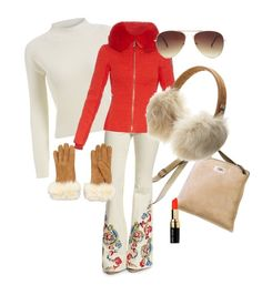 """""""Snow Bunny"""" by louise-224 on Polyvore featuring UGG Australia, Alice + Olivia, Fusalp, Bobbi Brown Cosmetics, Forever 21, women's clothing, women's fashion, women, female and woman"""