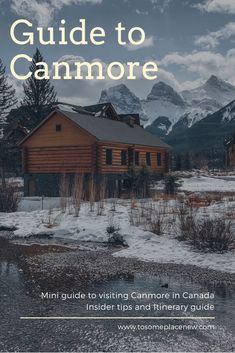 Canmore, located in the beautiful Canadian Rockies is an amazing weekend getaway. It's also a great alternative to Banff - with stunning mountain views visible from anywhere in the city. Read this article for itinerary guide and insider tips! #canada #canmore #canadianrockies #banff