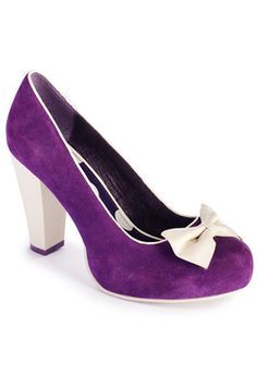 Lola Ramona Angie P Rounded Toe Pumps with Bow in Purple - Google Search