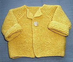 baby cardigan.  free pattern.