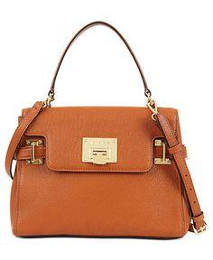 MICHAEL Michael Kors Handbag, Astrid Medium Satchel - Handbags & Accessories - Macy's $261  is this color too orange?