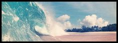 Ocean wave, surfer view, Facebook cover photo