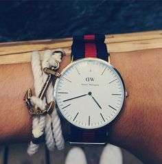 Summer essentials! Find the timepiece at www.danielwellington.com. #danielwellington #fblogger #style #watch
