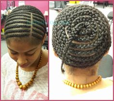 The braid structure for a full sew-in with a lace closure {The Finished Product}