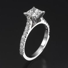 1.50CT PRINCESS CUT ENGAGEMENT RING 14KT SOLID White GOLD SOLITAIRE Anniversary