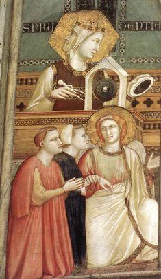 Giotto di Bondone (Italian artist, 1267-1337).Allegory of Obedience (detail) c. 1320 Fresco Lower Church, San Francesco, Assisi
