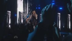 """I love both of them! Good times!!  Madonna is joined on stage by Taylor Swift to perform her song """"Ghost Town"""" at the 2015 iHeartRadio Music Awards held at the Shrine Auditorium on Sunday (March 29) in Los Angeles.  The 25-year-old pop star played the guitar to back up Madonna on her performance. What an awesome surprise collaboration!"""