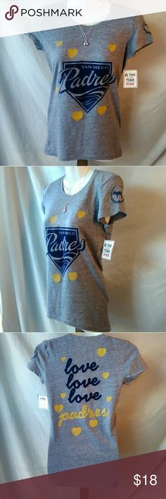 Nwt San Diego Padres tee by pink! NEW with tags Officially licensed MLB San Diego Padres tee by Victoria secret and 5th and ocean! PINK Victoria's Secret Tops Tees - Short Sleeve