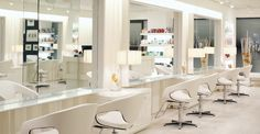 """esclava - """"a large, slick-looking beauty salon... the interior is all white and leather."""" - fifty shades fifty shades fifty shades"""