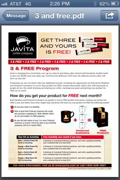 You've made the right decision to change your coffee and your life with Javita!  Please select one of our revolutionary coffee options below. The choice is yours.     javita,   javita coffee,   javita reviews,   javita opportunity    http://www.myjavita.com/ONLINECOFFEESHOP/order_us