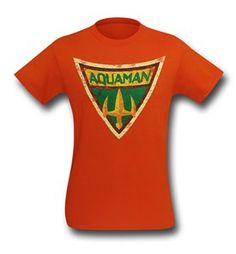 Aquaman Brave & Bold Symbol T-Shirt - Dark Orange