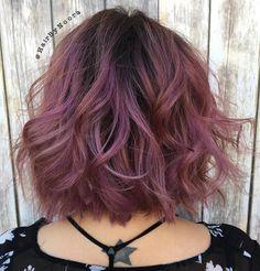 Pastel+Purple+Wavy+Bob