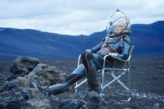 You maybe cool but you're not Charlize Theron siting on a lawn chair in a space…