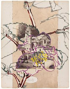 Robert Kushner Amalfi II, 2012 Acrylic and gold leaf on vintage photograph mounted to paper, 18 x 14 inches