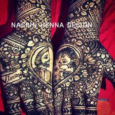 Bride nd groom design face heart shape # Mehendi, Alexander Mcqueen Scarf, Heart Shapes, Groom, Bride, Face, Design, Fashion, Wedding Bride