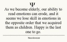 Elderly and emotions. Psychology Facts.