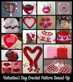 Fun Crochet projects for Valentine's Day http://craftingfriendsdesigns.blogspot.com/2015/01/valentine-projects-for-2015.html