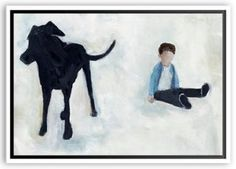 Lisa Golightly,  With Dog on Hill