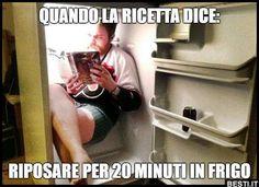 Riposare per 20 minuti in frigo   BESTI.it - immagini divertenti, foto, barzellette, video