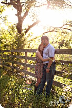 Field with Flowers Engagement Portraits Fort Worth Rustic Fence Save the Date Photo Ideas Aves Photography003 Brooke and Josephs Engagement Session (in the prettiest of locations).