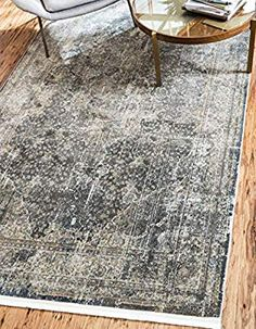 Unique Loom Baracoa Collection Bright Tones Vintage Traditional Dark Gray Area Rug 0 x 8x10 Area Rugs, Large Area Rugs, Shed Colours, Square Rugs, Carpet Colors, Gray Carpet, Modern Carpet, Buy Rugs, Persian Carpet