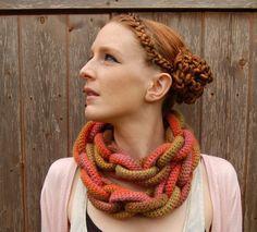 """Katie Probert's """"Crochet Chain Link Scarf""""!"""
