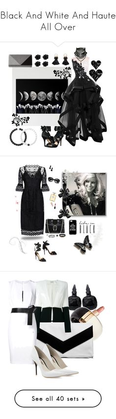 """Black And White And Haute All Over"" by yournightnurse ❤ liked on Polyvore featuring Nina, Jessica McClintock, Violeta by Mango, Lokai, Temperley London, Christian Louboutin, Dorothy Perkins, Stephen Webster, David Yurman and John Hardy"
