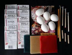 Ukrainian Easter egg decorating kit gift set complete with