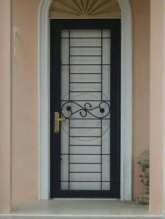 Fence Gate Design, Iron Gate Design, Grill Gate, Door Grill, Modern Window Grill, Iron Front Door, Balcony Doors, Window Grill Design, Wrought Iron Doors