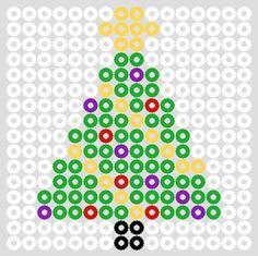 Hama perler bead Christmas lights by christeaandcakes Perler Bead Designs, Hama Beads Design, Diy Perler Beads, Perler Bead Art, Melty Bead Patterns, Pearler Bead Patterns, Perler Patterns, Beading Patterns, Art Patterns