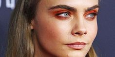 What do you think of the rust-colored eyeshadow @caradelevingne is rocking?