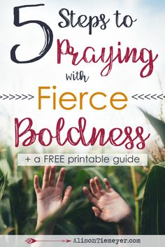 So much of Scripture tells us that when we pray, God hears. What a powerful promise and a meaningful truth. This means we can begin praying with fierce boldness - confident that God will hear and respond. Want to know how to begin praying boldly? Here are five steps so you can get started today!