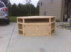 How to Build Your Own DIY Corner TV Stand