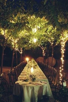 Long table and a sweetheart table for the couple