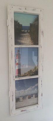 Auf dem Sperrmüll oder am Wegesrand findet man oft Dinge, die eigentlich viel zu schade zum Wegwerfen sind - wie dieses alte Sprossenfenster aus Holz. Mit ein bißchen Schleifarbeit, Lack in weiß und rot und farbigen Fotos ist dieser wunderschöne Bildrahmen entstanden. Wir zeigen Schritt für Schritt, wie es geht!