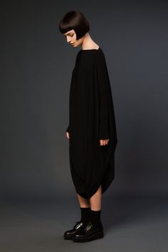 Blackblessed...not only do I want one in a black jersey knit but how about some white linen?