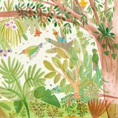 Foliage in full splendour - el follaje en su máximo esplendor #nature #flora #fauna #illustration #picturebooks