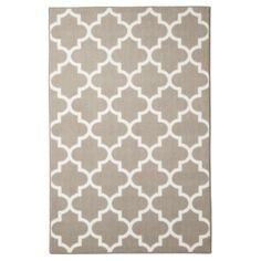 Check out my new living room rug. Maples Fretwork Rug Collection in Tan from Target This tile or trellis print is als. Laundry Room Rugs, Guest Room Decor, Target Rug, Family Room Decorating, Entry Rug, My Living Room, Apartment Living, Neutral Rug, Tan Rug