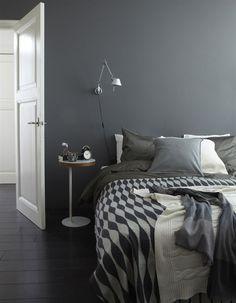 Gray bedroom / szara sypialnia