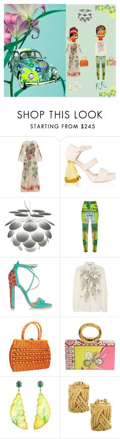 """""""Flower Power"""" by studiodinteriors ❤ liked on Polyvore featuring Anja, Gucci, Marset, Versace, Brian Atwood, Clover Canyon, Emilio Pucci and Buccellati"""